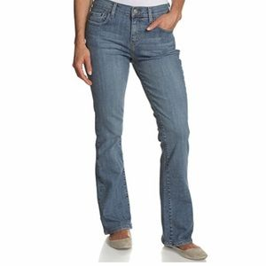 Levi's 515 Bootcut Blue Wash Fitted Stretch Jeans